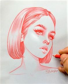 New illustrations, sketches and original art work by Rik Lee — Rik Lee Neue Illustrationen, Skizzen und Originalkunstwerke von Rik Lee – Rik Lee Girl Drawing Sketches, Cool Art Drawings, Pencil Art Drawings, Illustration Sketches, Art Illustrations, Drawings Of Girls, Face Sketch, Girl Sketch, Sketch Art