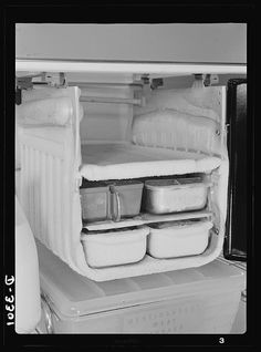 Remember having to defrost the refrigerator?  (or never even heard of it?  lol)  And metal ice-cube trays.