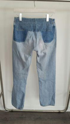 Maison Margiela Archival S / S 1999 Denim Jeans Trompe L'oeil Pockets Size 26…