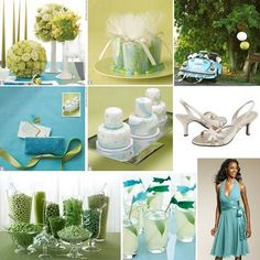 Colors That Compliment Each Other wedding   ... wedding color palette aqua and chartreuse are on top of the color