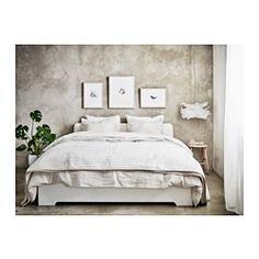 IKEA - ASKVOLL, Cadre de lit, 140x200 cm,  , , Les côtés de lit réglables permettent d'utiliser des matelas d'épaisseurs différentes.