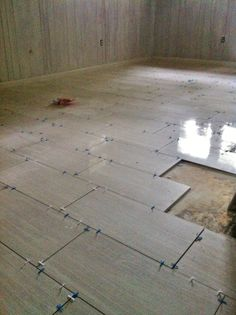 12x24 Porcelain Stratos Tile Installation In Progress Part 61