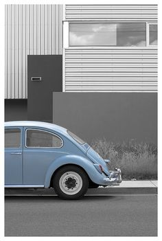 So wanted this car/color in college -- VW Bug in Powder Blue
