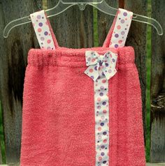 Child's Pink Towel Wrap Spa Wrap with by CarriedAwayCreations, $28.00
