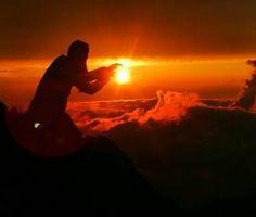 beautiful sunset@Mt Akadake