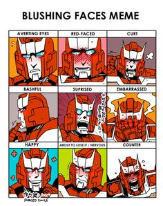 Ratchet in different ways of blushing