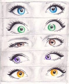 Cute drawings of eyes.