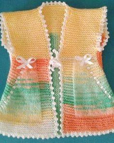 Very Nice Embellishments - maallure Baby Cardigan Knitting Pattern, Baby Knitting Patterns, Knitting Stitches, Crochet Patterns, Knitting Ideas, Diy Crafts Knitting, Knitting For Kids, Easy Knitting, Pull Bebe