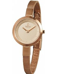 Obaku Denmark Women's Rose Gold Analog Watch Stainless Steel Mesh Band V129LXVVMV >>> For more information, visit image link.