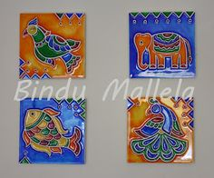 Finally here comes the step by step procedure on how to do a stained wood painting. The technique is named stained wood because it is do. Madhubani Art, Madhubani Painting, Glass Painting Designs, Paint Designs, Fabric Painting, Painting On Wood, Kalamkari Painting, Clay Wall Art, Clay Art Projects
