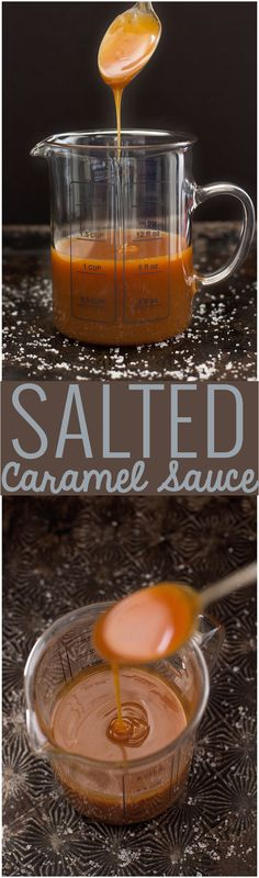 5 Ingredient Salted Caramel Sauce Recipe - Easy to make and good on everytihing! #saltedcaramelsauce #caramelsauce #easycaramelsauce | Littlespicejar.com