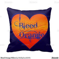 Bleed Orange Pillow