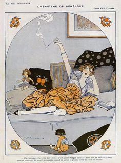 La Vie Parisienne  1916 1910s France Cc Drawing  - La Vie Parisienne  1916 1910s France Cc Fine Art Print
