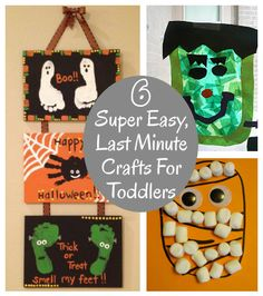 diy home sweet home: 6 Super Easy, Last Minute Crafts For Toddlers
