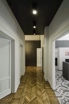 View the full picture gallery of Buongiorno B! Arch Interior, Interior Concept, Interior And Exterior, Hotel Corridor, Architectural Materials, Italy Pictures, Office, Floor Design, Interiores Design