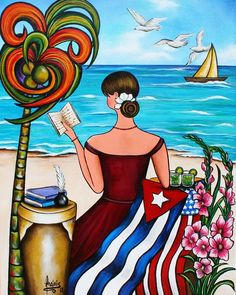 """""""Its My Turn"""" Painting - Proud to be cuban american by Annie Maxwell"""
