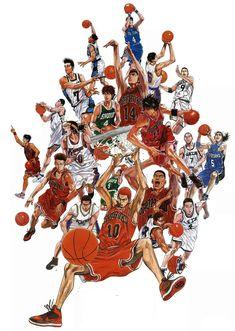 Slam Dunk by Takehiko Inoue Slam Dunk Manga, Manga Art, Manga Anime, Anime Art, Inoue Takehiko, Character Art, Character Design, Kuroko, Manhwa