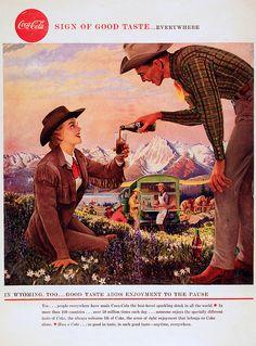 Coca Cola, 1958   ........  #coke ....... #coca-cola
