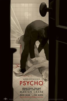 new poster for Psycho by Tomer Hanuka.