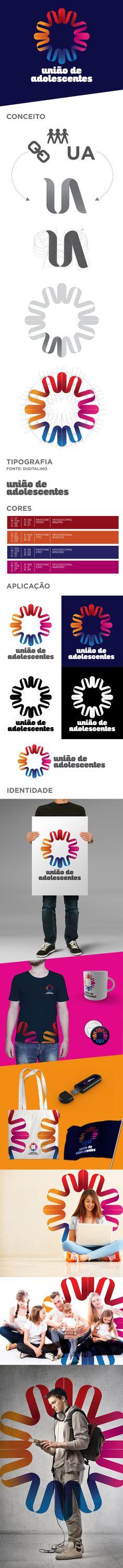 Criação de marca e identidade para União de Adolescentes