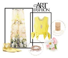 """""""Hint Of Spring"""" by freida-adams ❤ liked on Polyvore featuring MSGM, Jimmy Choo, Charlotte Russe and Marjana von Berlepsch"""