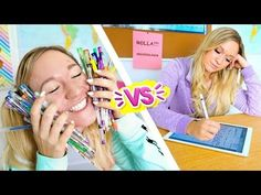Can we all agree that school supplies are so different now vs then? I hope you love this back to school video! Which then vs now supplies was your favorite? School Supplies List Elementary, School Supplies For Teachers, School Supplies Highschool, School Supplies Organization, Back To School Supplies, Diy Organization, First Day Of School, High School, Back To School Videos