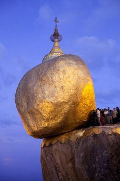 Kyaiktiyo Pagoda, Kyaikhto, Myanmar (Burma) #travel #color #Myanmar