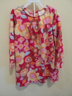 88241ab9128 HANNA ANDERSSON GIRLS SIZE 120 LS FLORAL KNIT DRESS~EXCELLENT CONDITION  #HannaAndersson #DressyEveryday