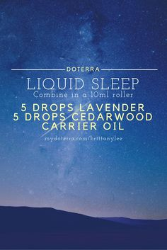 doTERRA essential oils for supporting sleep