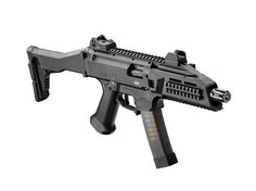 The CZ SCORPION EVO 3 is a modern submachine gun chambered in used by security forces and armies around the world. Airsoft Guns, Weapons Guns, Guns And Ammo, Tactical Equipment, Tactical Gear, Arsenal, Battle Rifle, Submachine Gun, Military Guns
