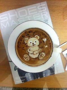 Cute Bear Latte art