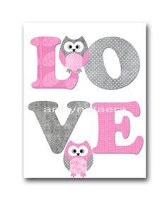 Owl Decor Owl Nursery Digital Wall Art Baby by nataeradownload