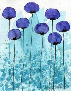 Watercolor drawing: watercolor flower painting - art print - Persuasive - P . - Watercolor Drawing: Watercolor Flower Painting – Art Print – Persuasive – P … # - Easy Watercolor, Watercolor Landscape, Landscape Paintings, Art Paintings, Painting Art, Painting Flowers, Drawing Flowers, Water Color Painting Easy, Flower Watercolor