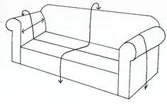 como realizar fundas para un sillón