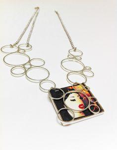Necklace, silver, original pic.