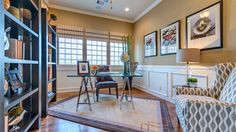 Beautiful study! Find it at Riverstone Patio in #SugarLand #Texas http://www.darlinghomes.com/new-homes/texas/houston/sugar-land/kensington-55-patio-community