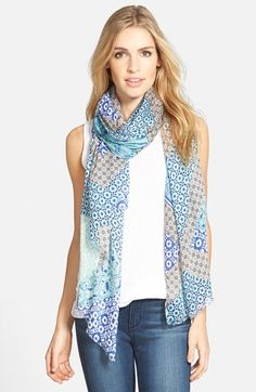 Halogen® 'Foulard Splice' Scarf available at #Nordstrom