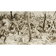 Heroes Of Delville Wood The Glorious Defence Of The South Africans In July 1916 Drawn By Frank Dadd Canvas Art - Ken Welsh Design Pics x Welsh, World War, Canvas Art, Museum, Tapestry, Draw, Stock Photos, Wood, Illustration