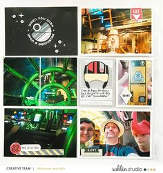 Disney Star Wars Galaxy's Edge Project Life scrapbook layout using Project Mouse (Galaxy): by Sahlin Studio