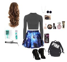 """""""me at school"""" by kalialuv ❤ liked on Polyvore featuring Topshop, Giuseppe Zanotti, Rimmel, Victoria's Secret, Disney, Conair, Batiste, Fall, cute and simple"""