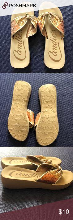 4878c1dc1 Candies sequined platform sandals flops size 7 Cute sequined flip flops.  Good used condition.