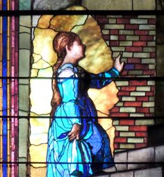 Trinty Church, Boston. LaFarge detail from Presentation of the Virgin (after Titian) 1888.