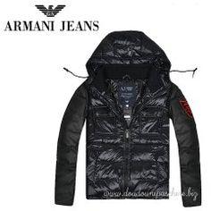 best website 21778 2eb0d Doudoune Armani Homme Populaires Capuche 2 In 1 Noir Armani Men, Black And  Grey,
