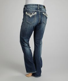 Take a look at this Dark Blast Wash New York Bootcut Jeans – Plus by Vigoss on #zulily today! only 9 left sz 16