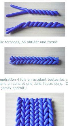 "polymer clay ""knitting"""