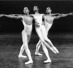 "Dance Theatre of Harlem  Pierre Lockett, Karen Brown and Keith Saunders in Glen Tetley's ""Voluntaries"""