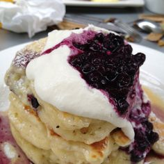 The pancakes at Mildred's Kitchen in #Toronto on Father's Day 2012 #food