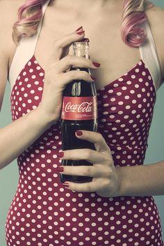 Retro Wedding Inspiration #retro #wedding #inspiration @WedFunApps wedfunapps.com ♥'d Coca cola + polka dots