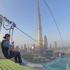 Fly through the Dubai Fountain with this 1,800ft zip wire.