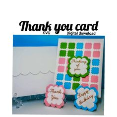 """""""Thank you card, Thinking of you, Happy Birthday SVG digital download template. Cricut"""" Pen Design, Cricut Tutorials, All Holidays, Pocket Cards, Welcome Baby, Heart Cards, Design Crafts, Baby Shower Invitations, Crafts To Make"""